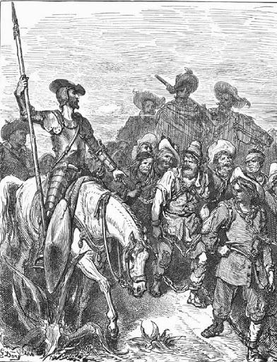 Don Quijote y los galeotes