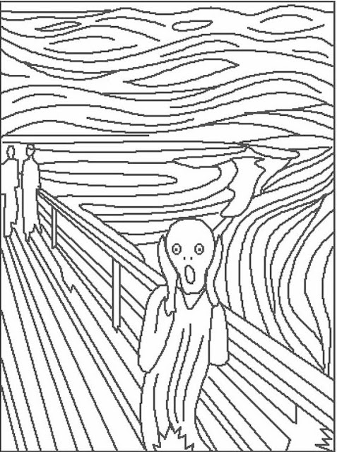 cassic art coloring pages - photo#3