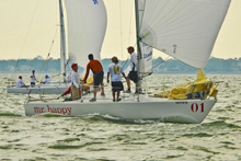 J/24 one-design sailboat- sailing Houston Galveston Bay