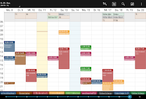 Business Calendar (auf dem Nexus 9)