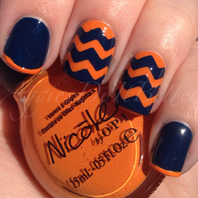direct ... - Aggies Do It Better: Denver Broncos Inspired Nails (chevrons)