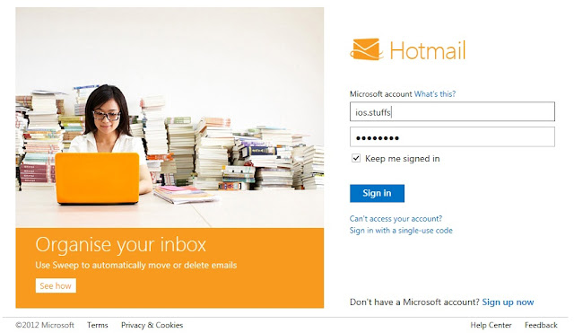 Hotmail log in, www.iosideas.tk