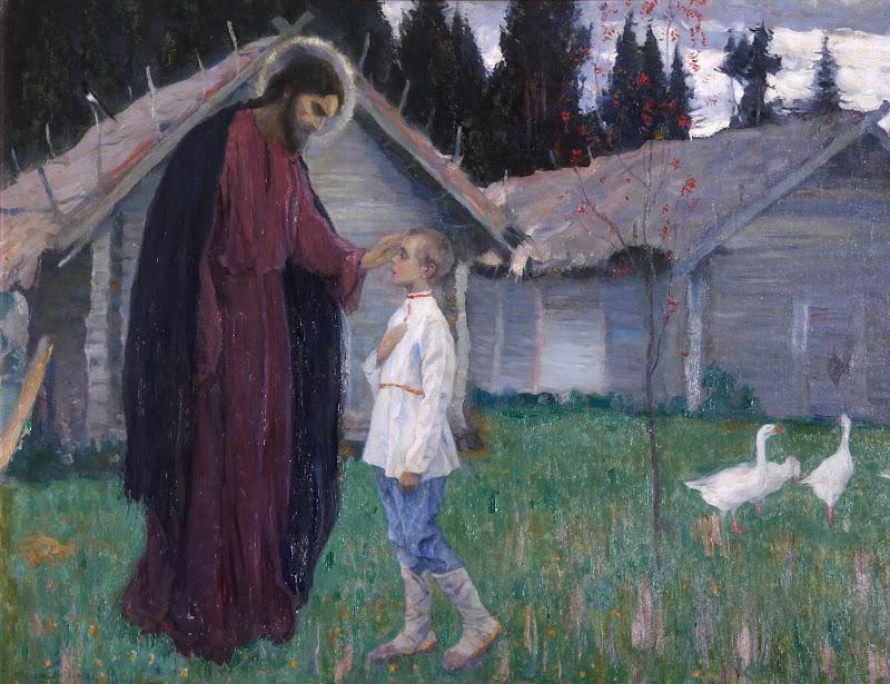 Mikhail Nesterov - Christ blesses Bartholomew