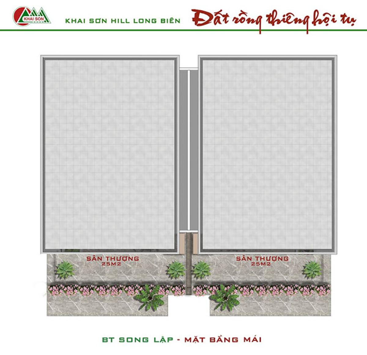 Biệt thự song lập Khai Sơn City Long Biển