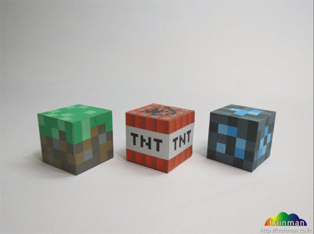 Minecraft Blocks Papercraft