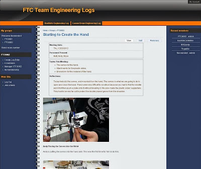 Free Online Engineering Log - Terra Nova Robotics