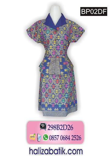 grosir pakaian wanita, batik dress, mode baju batik wanita
