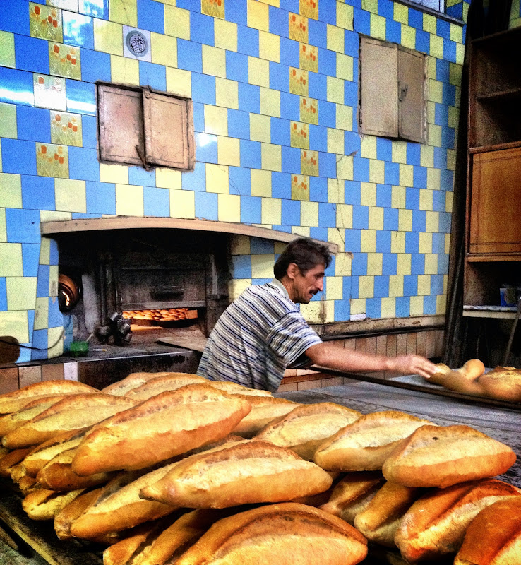 Freshly baked bread in Safranbolu