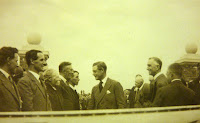 Mr Sidney Dockerill (3rd from left) at the opening of Sawston Village College by the Prince of Wales (lated King Edward VIII)