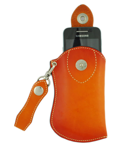 04c - Ostrich Leather Bi-Fold Wallet and Samsung Galaxy Case