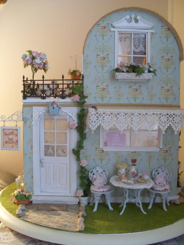 lindas miniature musings shabby chic tea salon. Black Bedroom Furniture Sets. Home Design Ideas