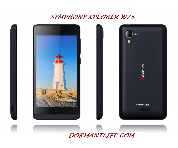 W75 600x500 - Symphony Xplorer W75 : Phone Specifications And Price