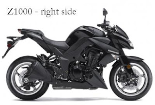 2011 Kawasaki Z1000 right view