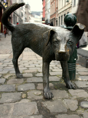 Dog Sculpture in Brussels