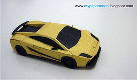 Lamborghini Gallardo Superleggera Papercraft