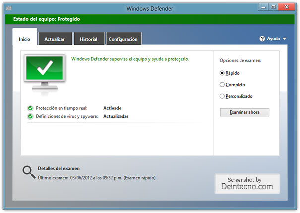 Windows Defender de Windows 8