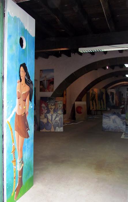 art gallery in Santa Maria street in old town