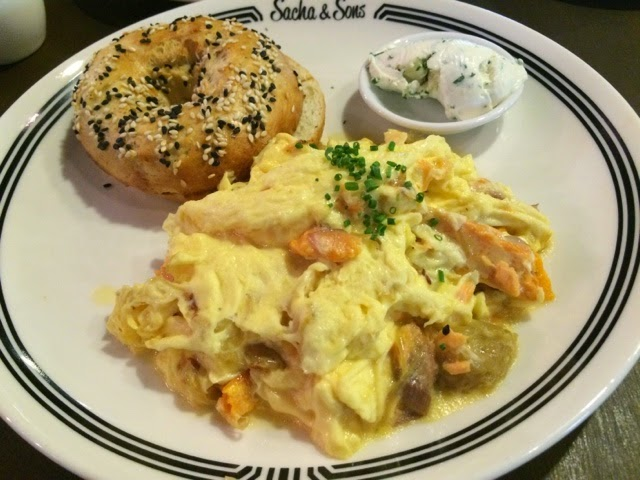 Bagel and Eggs With Salmon