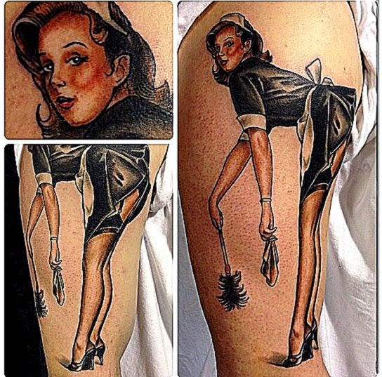 My pin up girl By Piers Lee at Modern Body Art Birmingham UK