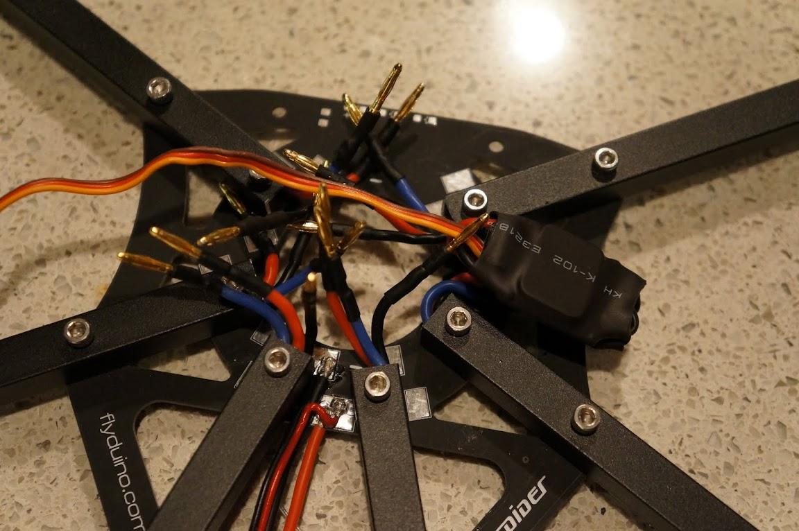 Flyduspider Hexa Fpv Build Rc Groups Cc3d Wiring Diagrams For Helicopters Should Have All Escs Wired Up And Her Flying Tomorrow With The Rain Coming Id Like To Utilize Pcb Surface Mount 1206 Leds I Just Need Fine Out What
