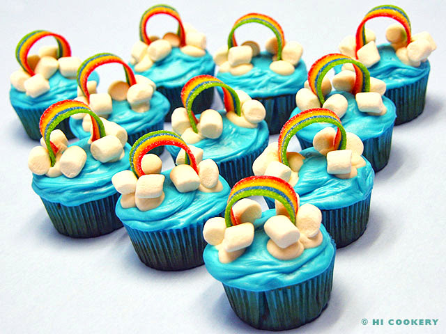 Rainbow Cupcakes | HI COOKERY