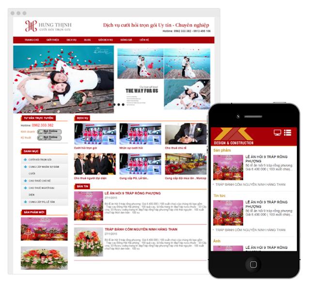 Thái AiTi hợp tác thiết kế web Công ty cưới hỏi Hưng Thịnh