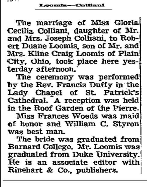 LoomisGloriaWed25Apr1954_NYT.jpg