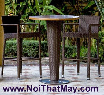 Outdoor Wicker Bar Set Minh Thy 805