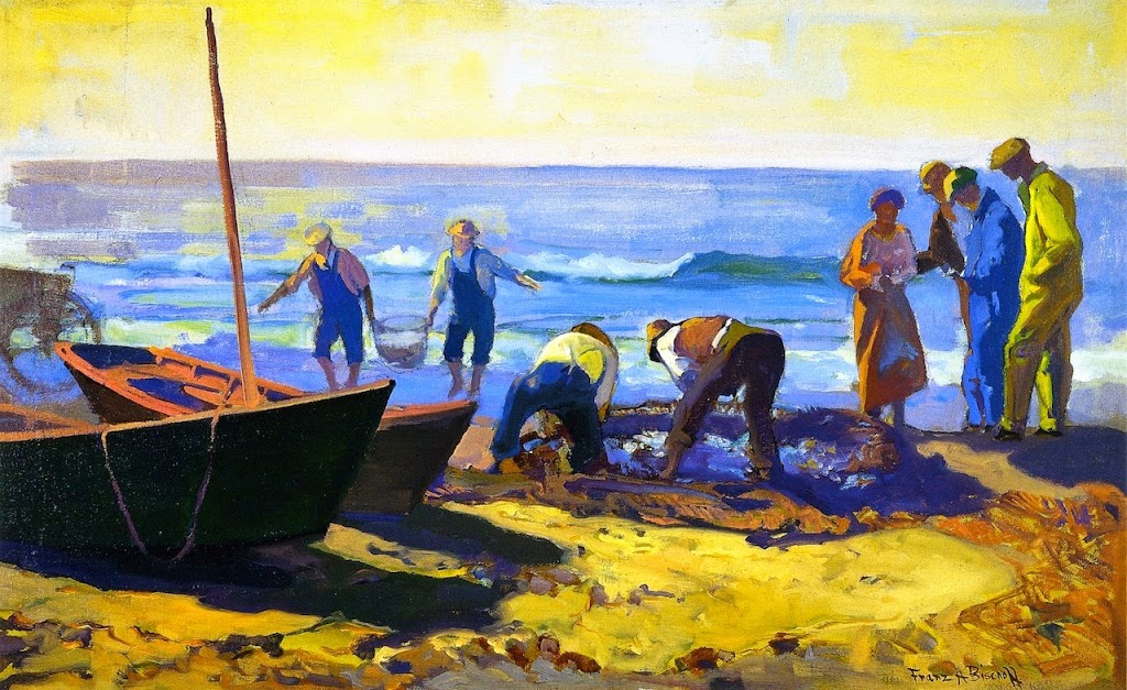 Franz Bischoff - Fishing at Laguna