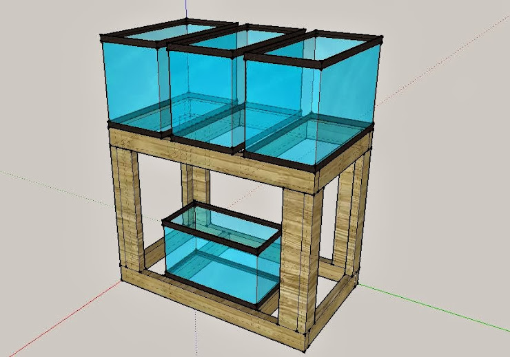 Cichlid forum diy double stand for Double fish tank stand