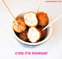 Mini boulettes croustillanes façon cordon bleu - recette indexée dans les Entrées
