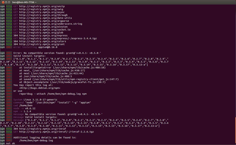 install node js ubuntu command