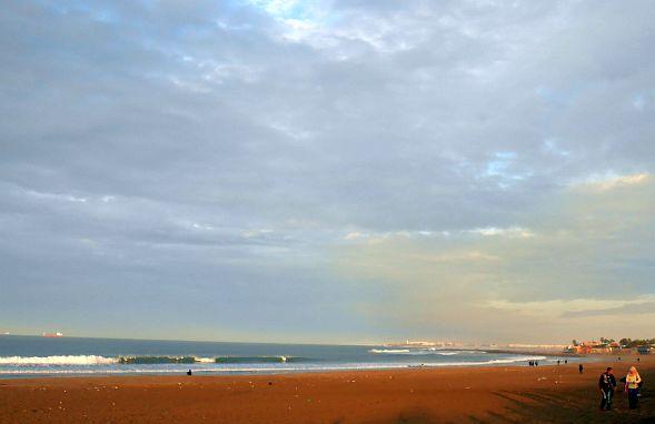 Sonnenuntergang am Strand von Mohammedia