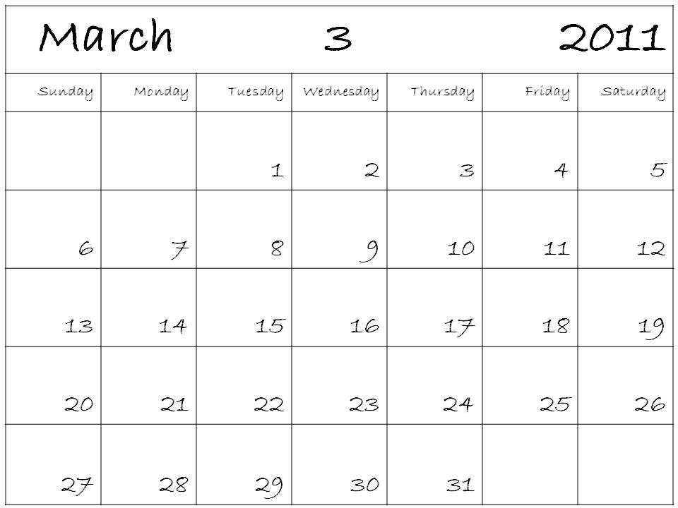 Blank Calendar Program