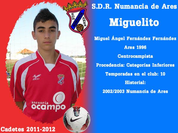 ADR Numancia de Ares. Cadetes 2011-2012. MIGUELITO.