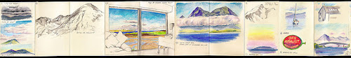 Fab watercolour moleskin spread from Falling Sky on Flickr