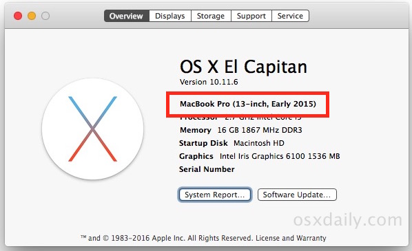 Check Mac Model year for compatibility with MacOS Sierra