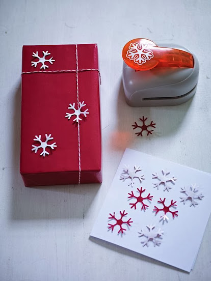 snowflake paper presser gift wrapping