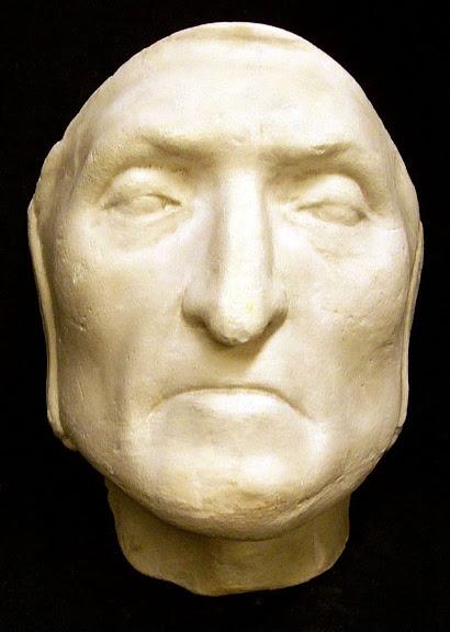 Máscara mortuária de Dante Alighieri. (Foto: Princeton University Library)