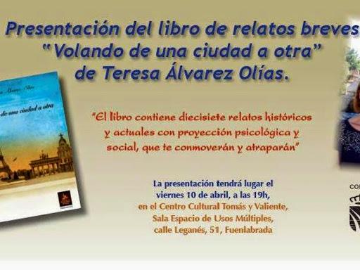 """Presentación del libro de relatos breves """" Volando de una ciudad a otra"""""""