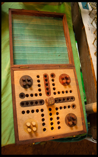 Ludo made from Wooden Carving
