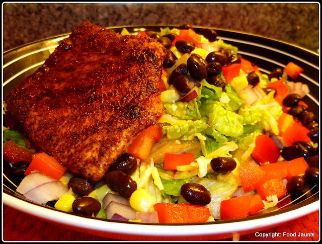 BBQ Salmon Salad