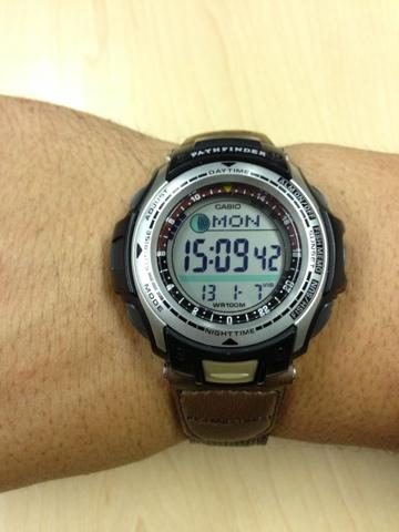 casio pathfinder fishing watch manual