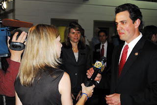Television reporter interviews Congressman Tom Graves (GA-9)