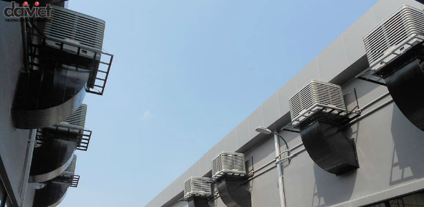 Hình ảnh lắp đặt tại May Saitex- Amata Đồng Nai ( Phần bên ngoài )