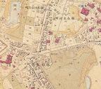 陸軍参謀本部作成明治16年地図  桑茶政策の名残り  松方正義邸・仙華園辺の茶畑
