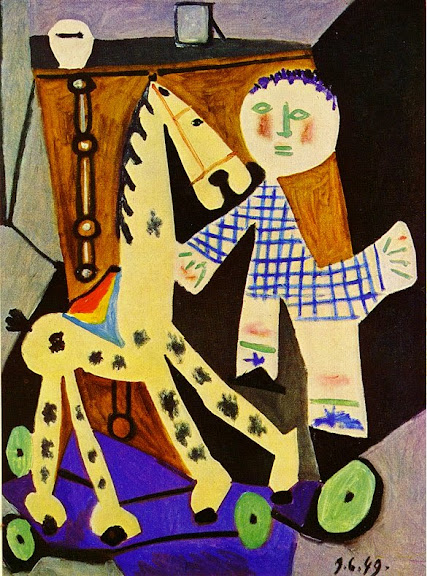 Pablo Picasso - Claude, two years old, and his hobby horse, 1949