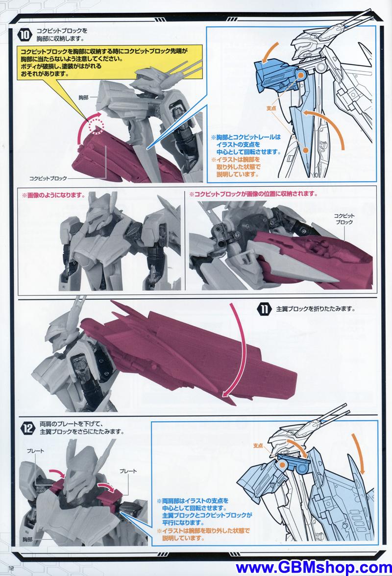 Bandai DX VF-25S Messiah Transformation Manual Guide