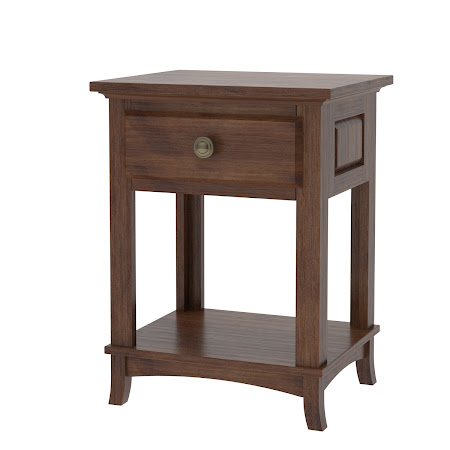 Rochester Nightstand with Shelf, Espresso Maple