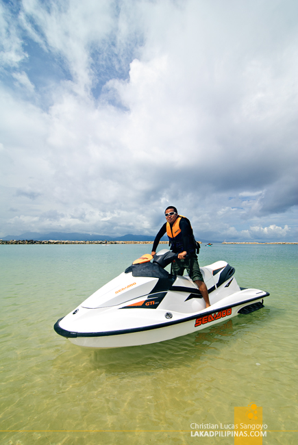 Jetskiing at Albay's Misibis Bay